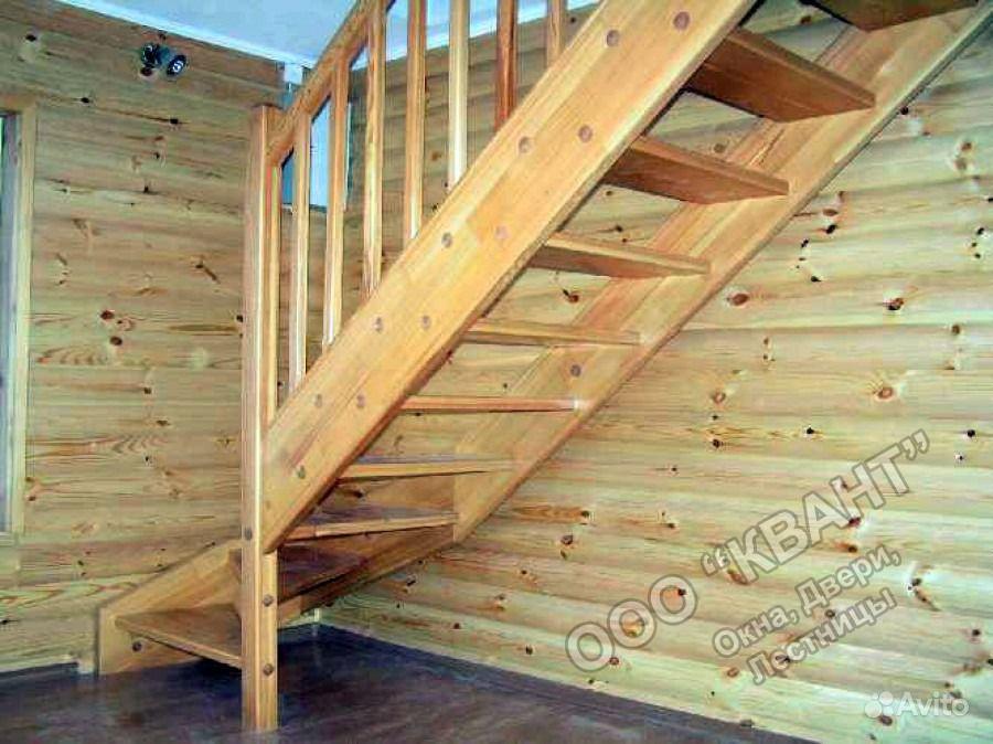 Лестница деревянная для дачи своими руками