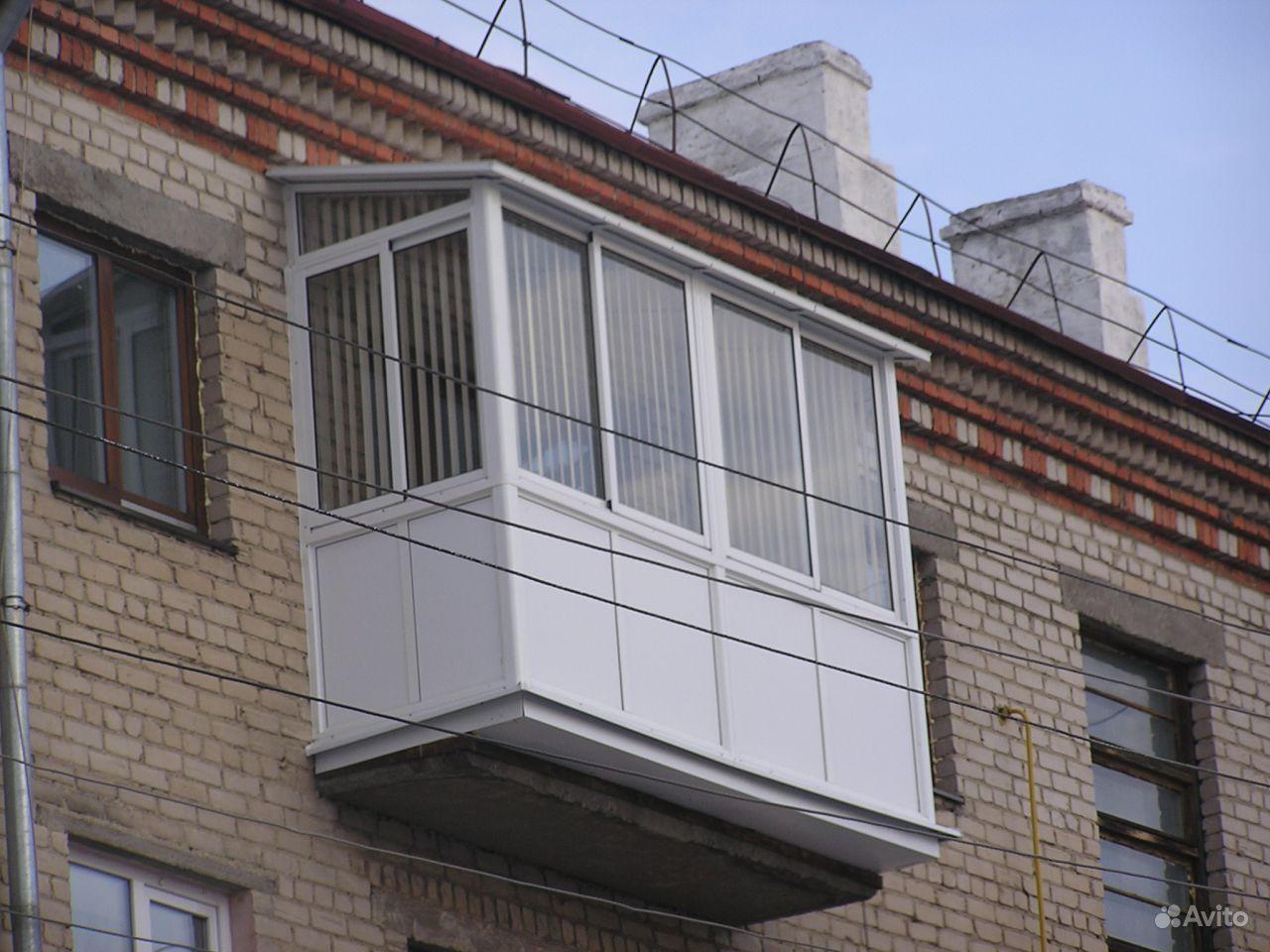 Остекление балкона хрущевки под ключ..