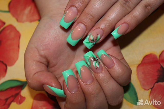 Наращивание ногтей гелем дизайн фото