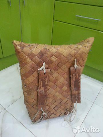 Поршня заплечная охотничья сумка из бересты