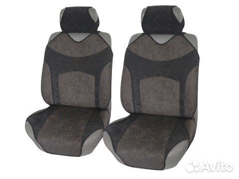 Чехлы-майки на передние сиденья из велюра iSky VINTAGE, легкое надевание, о