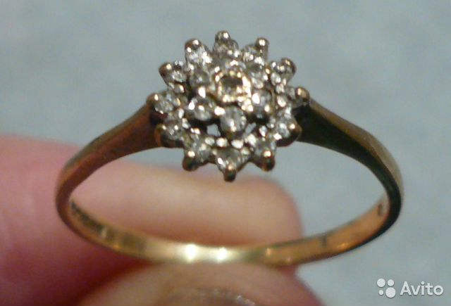 Six prong round brilliant diamond ring 15 carats colorless 18k white