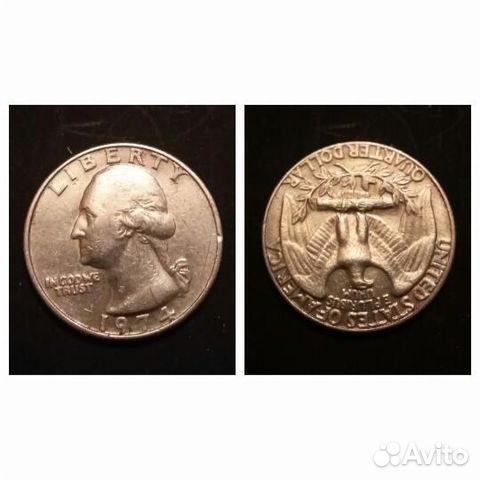 Объявление о продаже монеты quarter dollar liberty 1974, 1979, 1985 в москве на avito