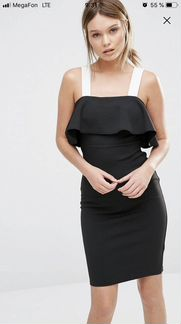 Платье ASOS новое new look цветочное колор-блок