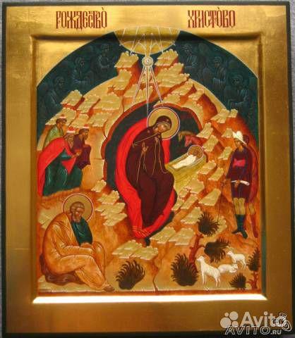 Икона Рождество Христово, 32 x 27 см ...: https://www.avito.ru/ivanovo/mebel_i_interer/ikona_rozhdestvo...
