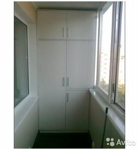 Шкаф на балкон с антресолью.
