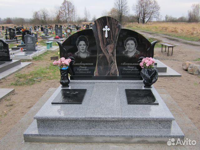 Памятник из цветного гранита Зеленоградск пластины металлические на надгробие г мытищи