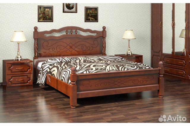 7c1c97e2b6be6 Кровать из массива дерева купить в Санкт-Петербурге на Avito ...