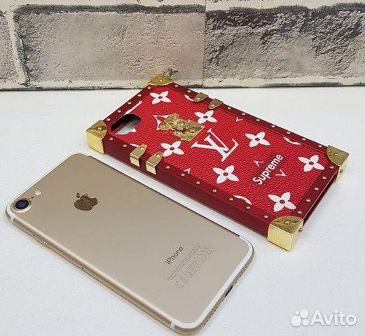 Чехол Louis Vuitton Lv Supreme Красный iPhone 6 7+   Festima.Ru ... 4c060ee9e40