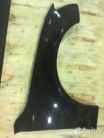 Крыло переднее правое Ауди А4 Б8 2012 чёрное— фотография №1