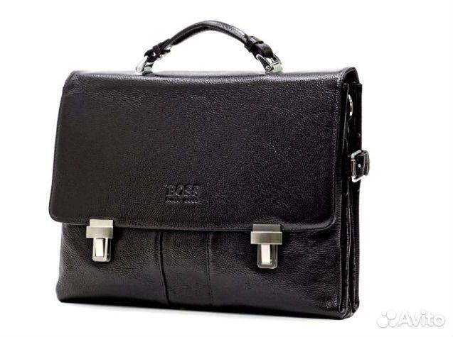Мужская сумка портфель Hugo Boss из кожи Lux   Festima.Ru ... 1809ad5d906