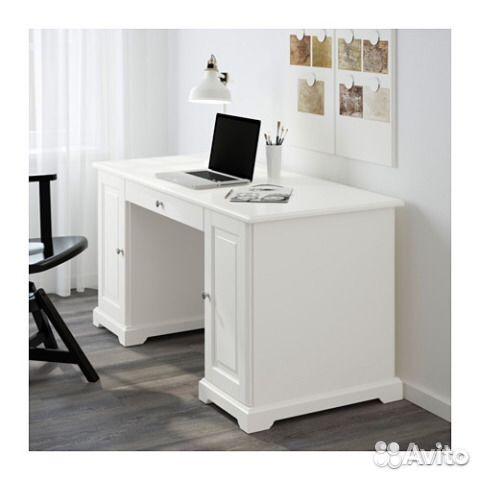 белый письменный стол Ikea лиаторп Festimaru мониторинг объявлений
