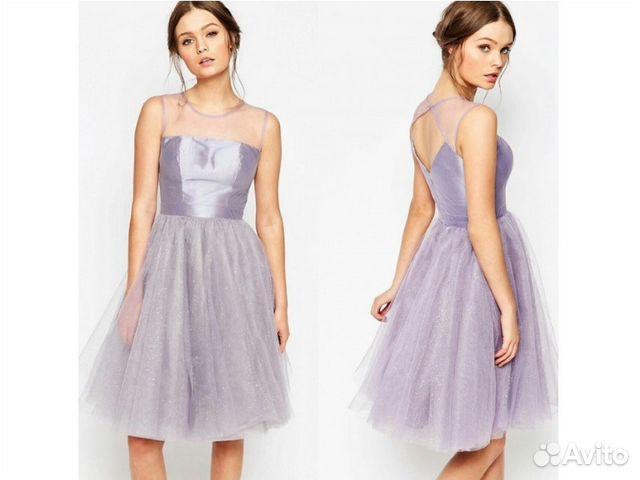 0f5342f4ac6 Сиреневое пышное коктейльное платье Chi Chi London купить в Москве ...