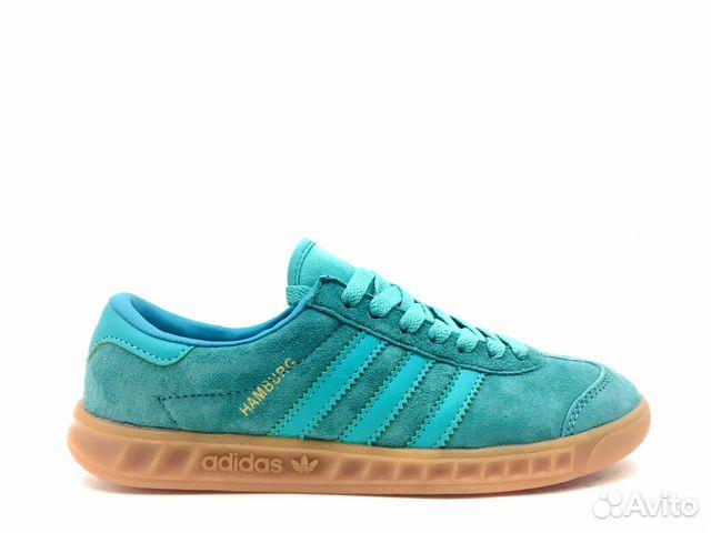 d331859f75a Кеды Adidas Humburg женские (бирюзовые) купить в Краснодарском крае ...