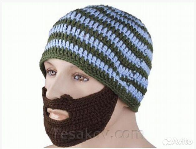 вязаная шапка с бородой купить в санкт петербурге на Avito