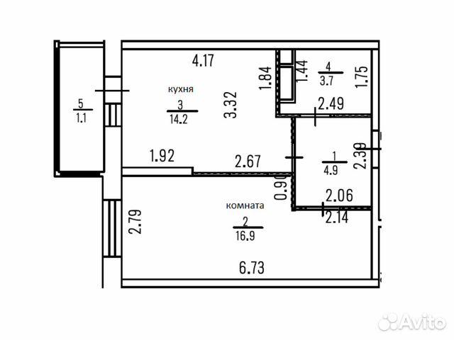 Продается однокомнатная квартира за 2 555 000 рублей. Правдинский Степаньковское ш 39.