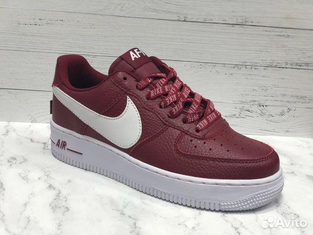 579d8fed Кроссовки Мужские Nike Air Force 1 NBA Red/White купить в Москве на ...