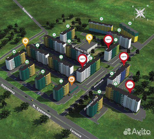 2-к квартира, 60 м², 6/10 эт. 84812703307 купить 1