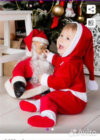 Костюм Санты для малыша  89522438183 купить 2
