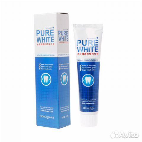 84942303606 Отбеливающая зубная паста BioAqua Pure White