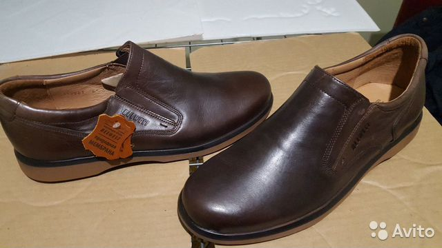 Кожаная обувь 45 размер (туфли)  89275064422 купить 7