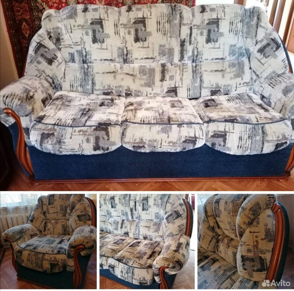 Диван и 2 кресла. отличное состояние  89023805566 купить 1
