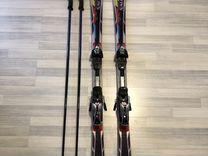 Горные лыжи + палки + ботинки