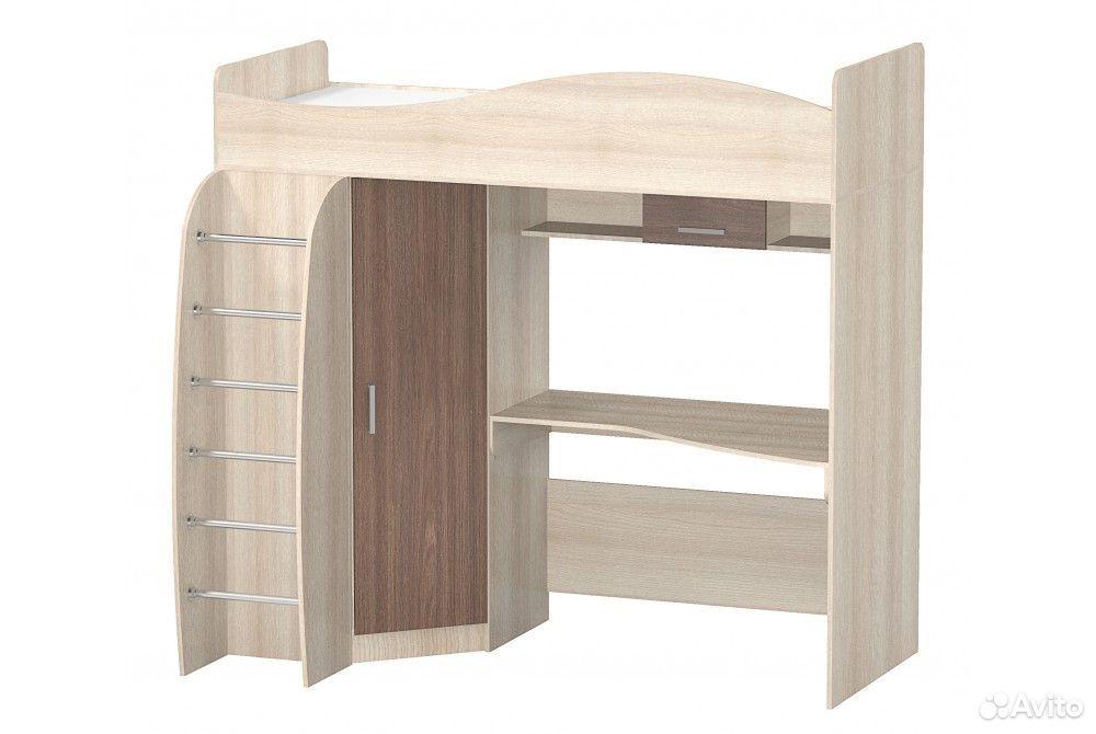 Кровать чердак со столом (левое/правое исполнение)