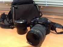 Фотоаппарат Sony a,сумка и объектив