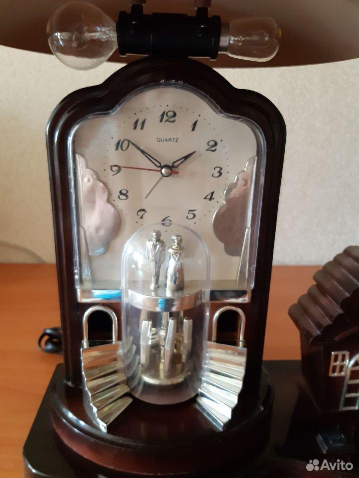 Часы-лампа настольные