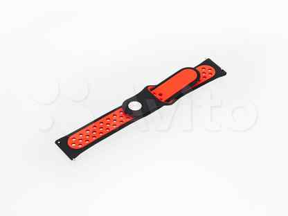 Ремешок для Samsung Watch Sport Отверстия 22mm черно-красный