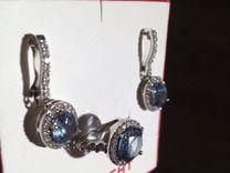 Комплект из серебра с топазами и фианитами, куплен