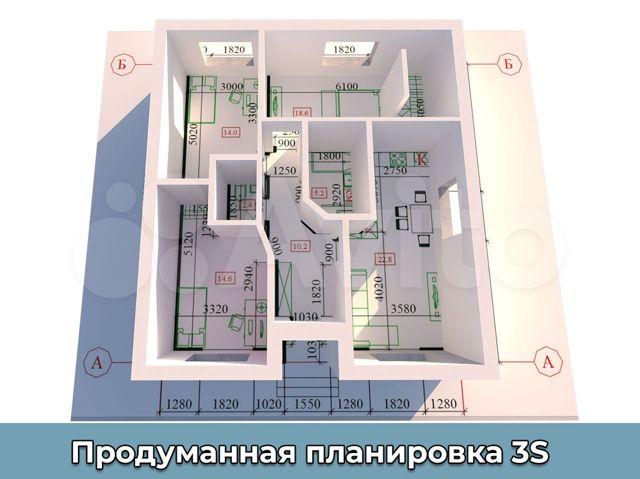 Коттедж 90 м² на участке 3 сот.